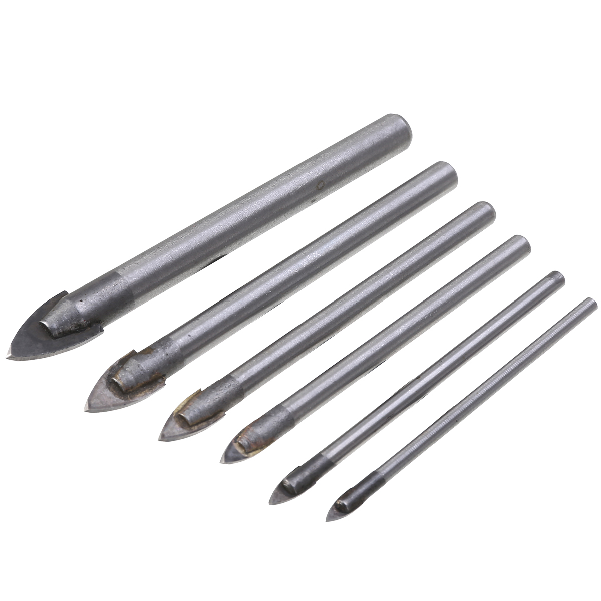 4PC TILE GLASS CERAMIC MIRROR TUNGSTEN CARBIDE DRILL BIT SET 3mm 5mm 6mm 8mm NEW