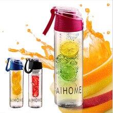 Aihome 800 ml ciclismo deporte de la infusión de agua infusor fruta taza de jugo de lemon médica bicicleta ecológico bpa botella tapa de desintoxicación
