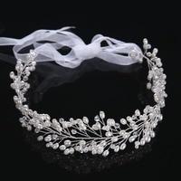 Hot Sale 1Piece White Color Bridal Wedding Party Headdress Flower Pearl Hair Comb Headband Headpiece
