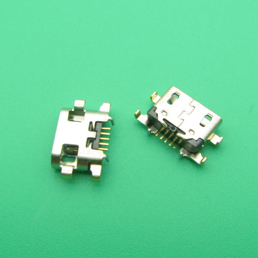 10pcs Micro Mini USB Jack Socket Charging Port Dock Replacement Connector For Lenovo Vibe A7020 K52t38 K52e78 K5 Note