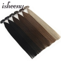 Isheeny 14 1822 Remy Fusion U Tip Hair Extensions Striaght European Human Hair On Capsule 50pcs Free Shipping