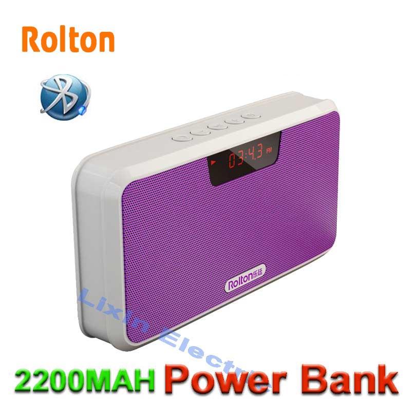 Rolton Power Bank Bluetooth hordozható hangszóró támogatás TF - Hordozható audió és videó