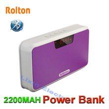 Rolton Juego de Apoyo TF Tarjeta Altavoz Bluetooth Banco de Potencia Portátil Mp3 Teléfono Manos Libres Radio FM Y Grabación de LED pantalla