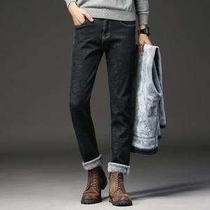 Image 5 - 2019ใหม่ผู้ชายกิจกรรมThicken Warmกางเกงยีนส์ฤดูใบไม้ร่วงกางเกงยีนส์ฤดูหนาวWarm Flocking Warm Soft Menกางเกงยีนส์Fitสำหรับ 15