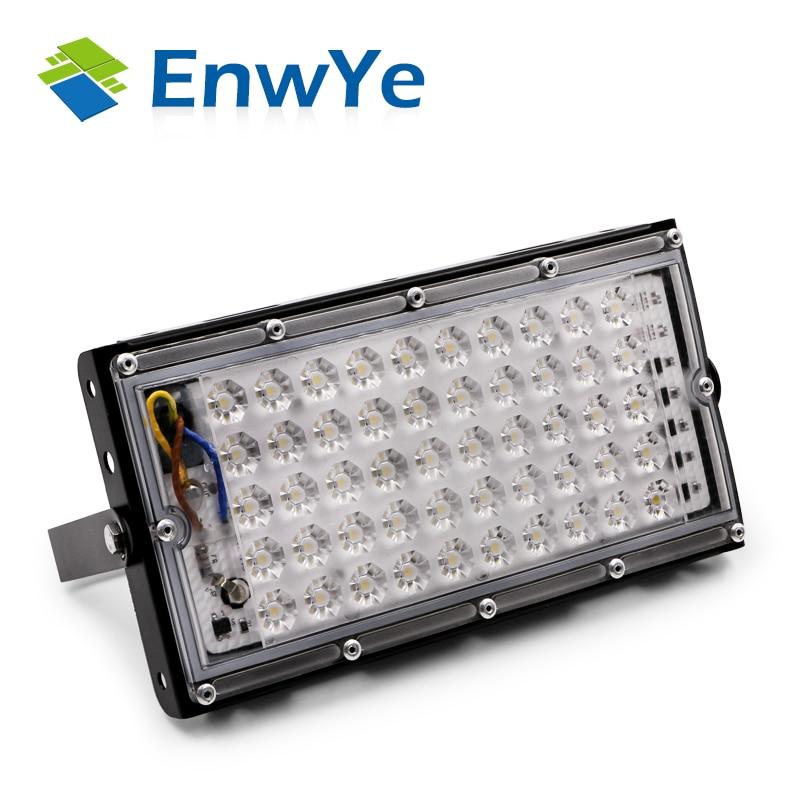 EnwYe 50 W de potencia perfecta reflector de luz de inundación llevó la lámpara de la calle 220 V 240 V impermeable paisaje de iluminación IP65 foco led