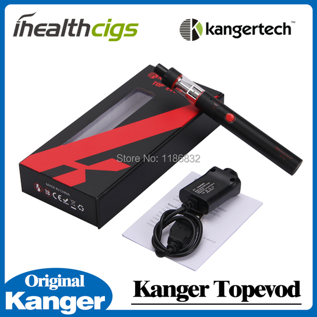 100% Original Kanger Topevod Starter Kit 7ml Top Evod 650mah Evod Battery kanger topevod kit