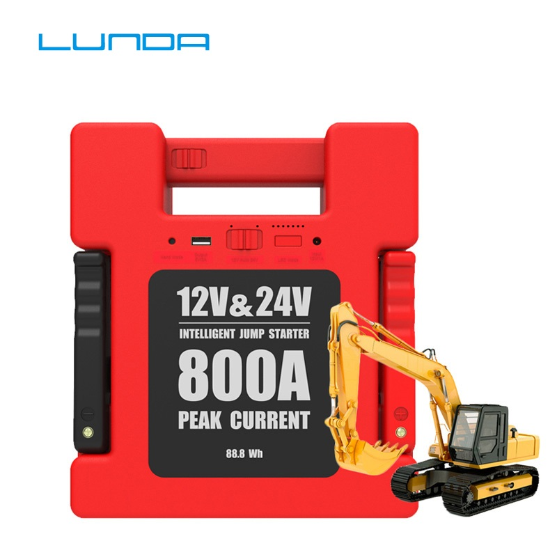 Image 4 - LUNDA 800A Peak 12/24V Vehicle Jump Starter Battery Booster Power Pack ( All Gas or Up to 6L Diesel Engine)power allpower packpower up -
