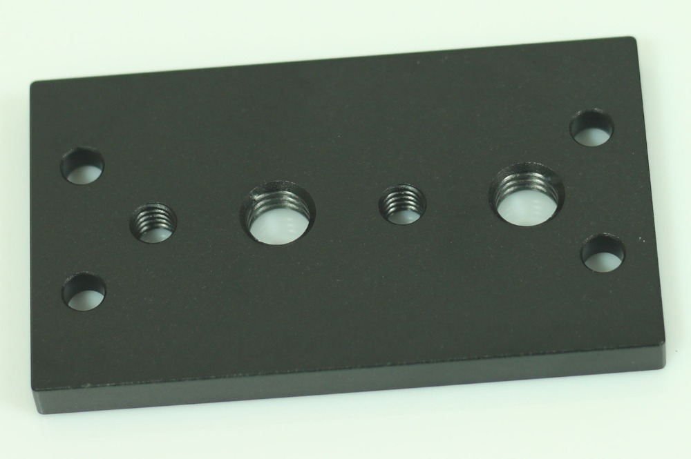 85x50mm tripod plate with 1/4 hole and 3/8 hol for 15mm Support Rail Rig Rail camera support mount plate