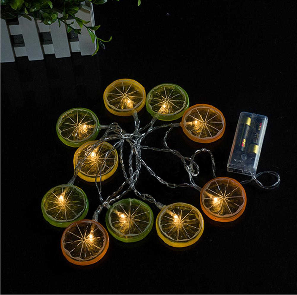 Battery Powered 10 LED Lemon ED String Light Warm White ...
