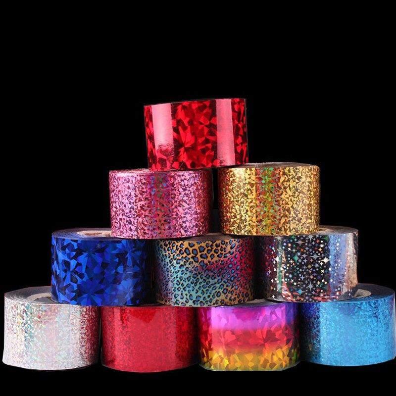 120m * 4cm Fantasy Starry Holo Nail Foils Glitter Transfer Stickers ...