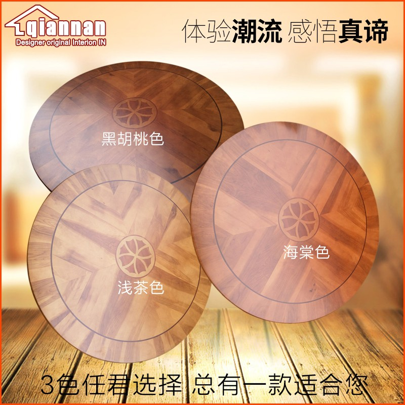 Solid Oak Wood Quiet Smooth Lazy Susan Rotating Tray Dining Table Swivel Turntable Plate_0001