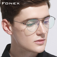 Titanium Optical Glasses Frame Men Ultralight Women New Aviation Myopia Prescription Eyeglasses Korean Denmark Screwless Eyewear