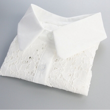 Fashion Womens Detachable Fake Collar White Half Shirt Tops Ladies Lace False Accessories