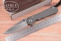 JUFULE OEM Large Sebenza 25 CPM S35vn titanium handle folding vegetables fruit pocket camping hunt EDC tool dinner kitchen knife