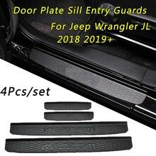 1 комплект двери порога запись гвардии для Jeep Wrangler JL+ 4-дверная фурнитура автомобильные дверные панели автомобиля для укладки волос