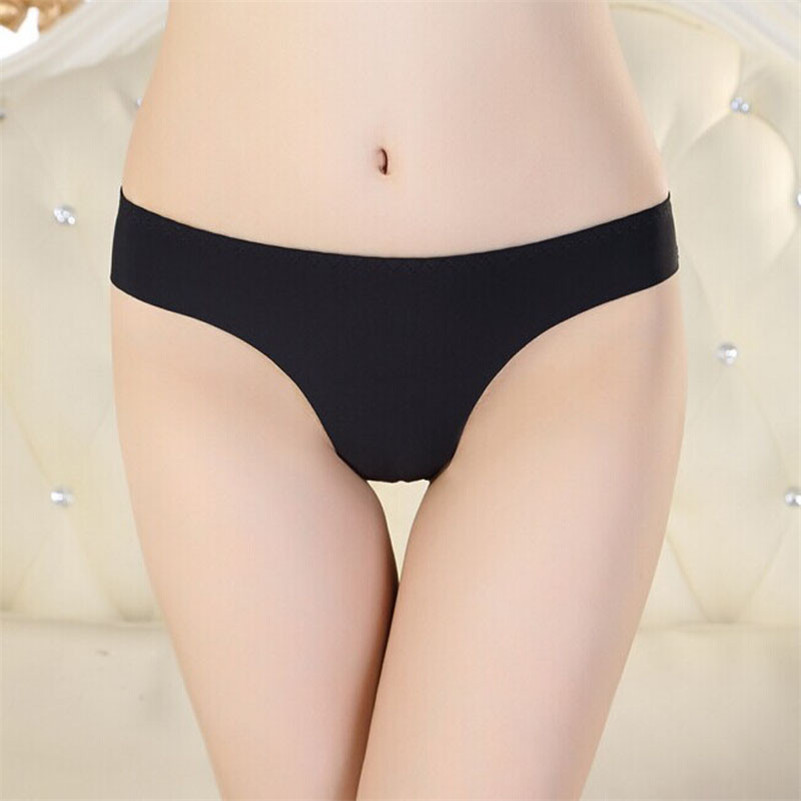 9 Colors Sexy Casual Hot Women Invisible Brief G String Underwear Ladies Thong Cotton Spandex Cotton Gas Seamless Crotch