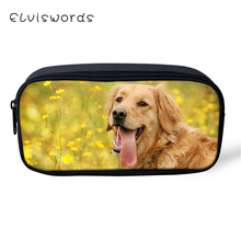 ELVISWORDS Fashion Kids Pencil Bags Cute Labradors Pattern Students Stationery Box School Supplies Pen Case Cartoon Beautician