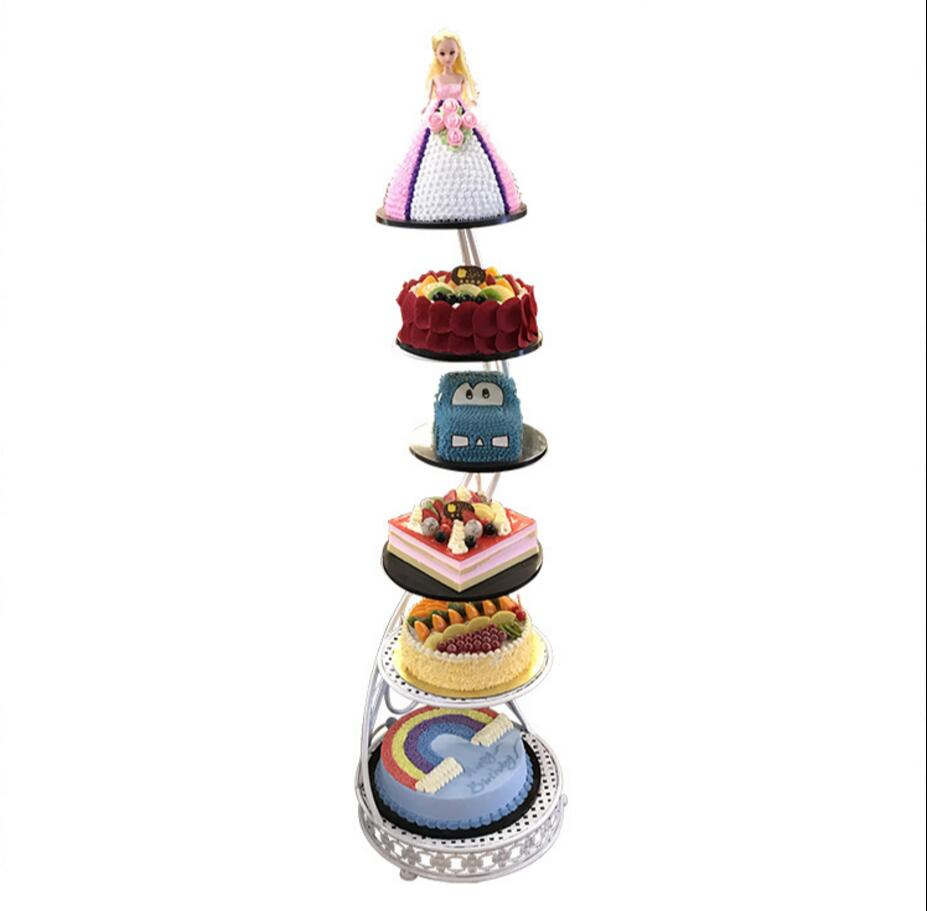 Six layer cake rack new upright multi layer European birthday creative cake rack in Storage Holders Racks from Home Garden