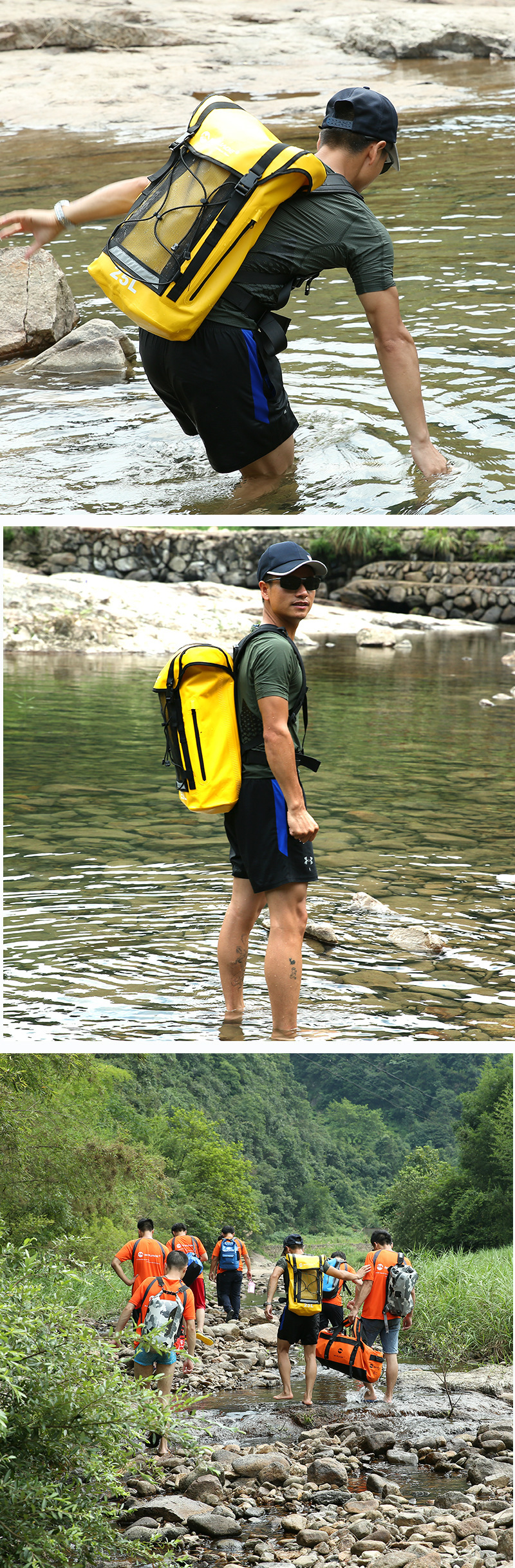 Topdudes.com - 25L Waterproof Travel PVC Dry Bag