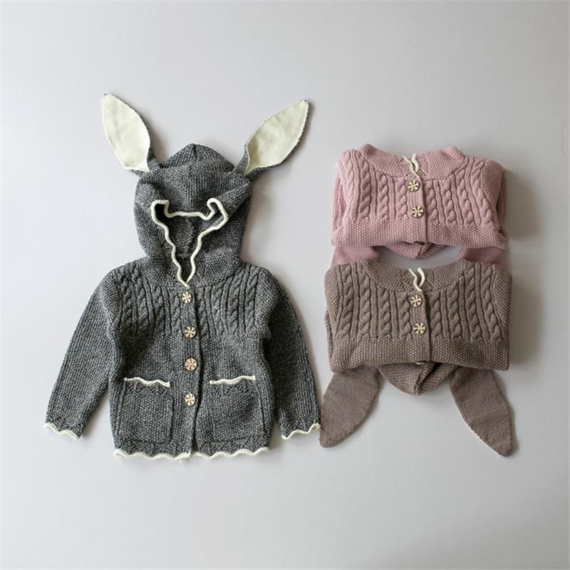 8cda3d02c9d3 2016 New Children Sweaters Rabbit Ears Boys Girls Sweater with ...