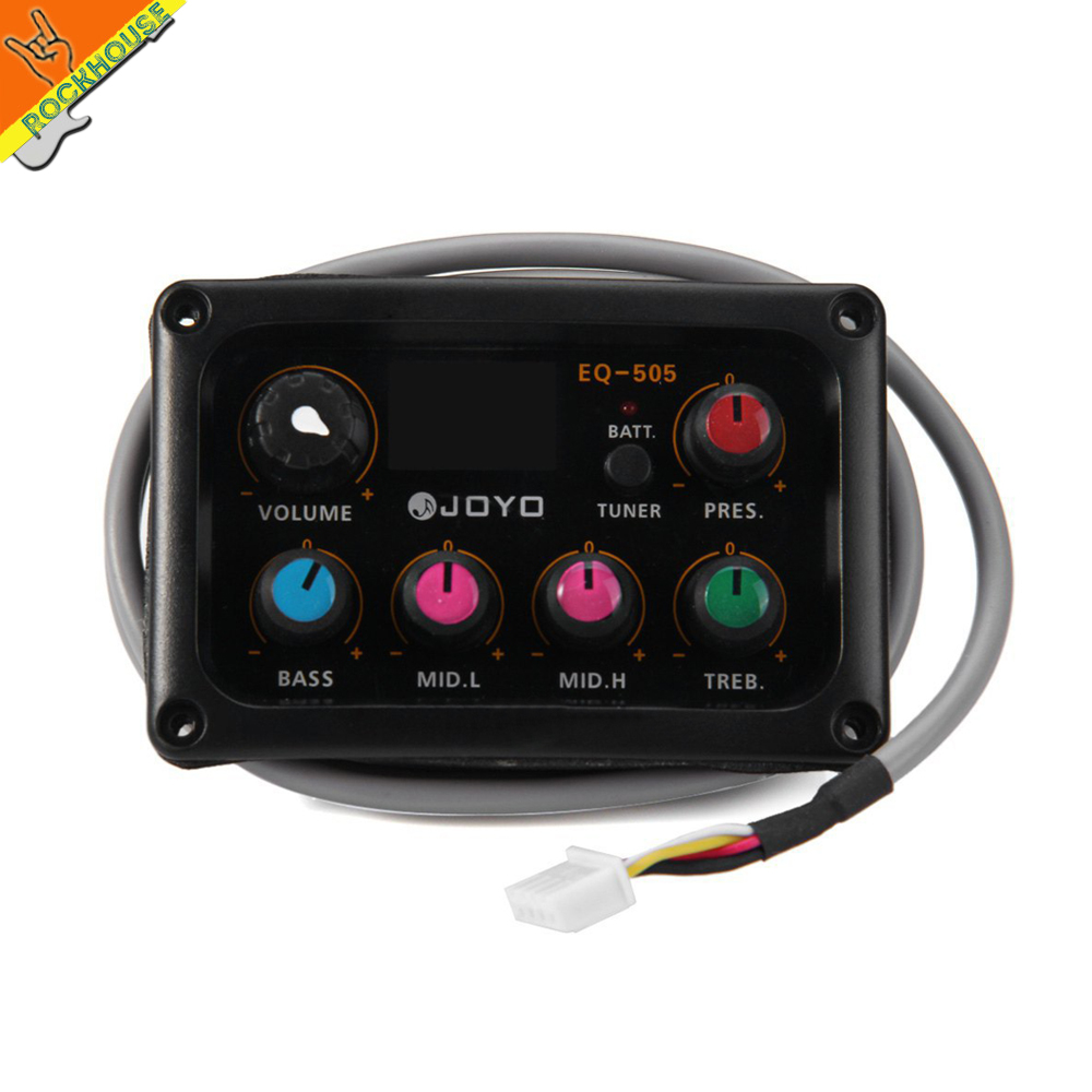 JOYO EQ-505 Folk guitarra 5 Band EQ Acoutsic guitar Equalizer high sensibility Presence adjustable with tuner free shipping joyo eq 307 folk guitarra 5 band eq acoutsic guitar equalizer high sensibility presence adjustable with phase effect and tuner