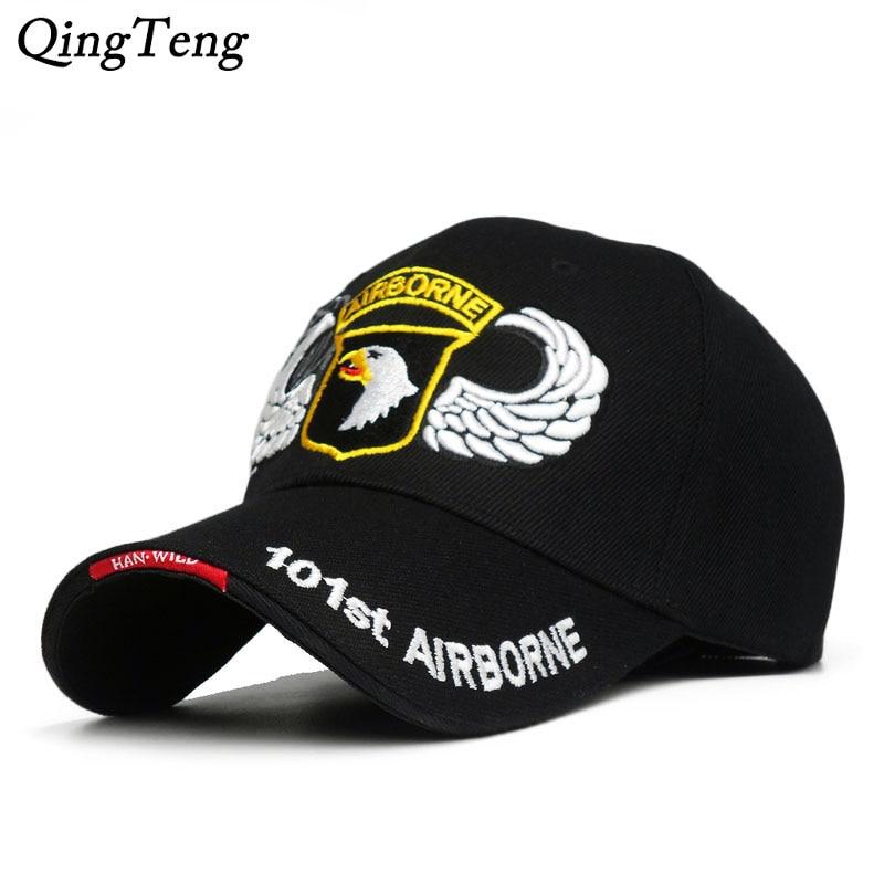 101st Airborne Division Mens   Baseball     Caps   US Army   Cap   Snapback Hats AIR FOREC Sport Tactical   Cap   Dad Hat 5 Panel Bone
