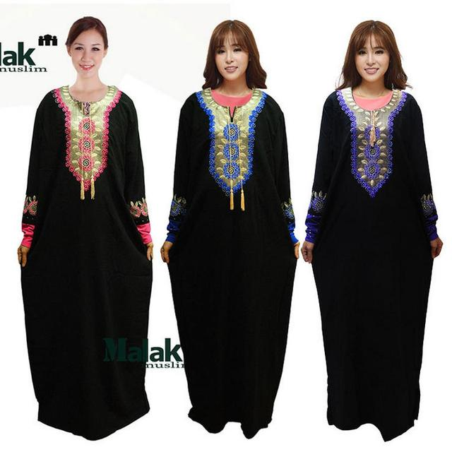 Abaya atacado turquia Jilbabs e Abayas turco islâmico diamante mantos bordados Musulmane bordado Vestidos Vestidos W478