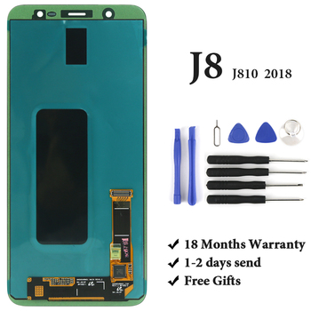 """1pc Super AMOLED for J8 2018 J810 J810F LCD Screen 5.8"""" inch Replacement Display Digitizer touch screen assembly"""