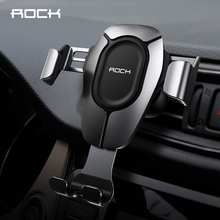 ROCK Car Phone Holder Gravity Stand Mobile Support Holder in Car Phone Air Vent Clip Mount Brackefor iphone 6 7 Plus XS MAX Plus стоимость