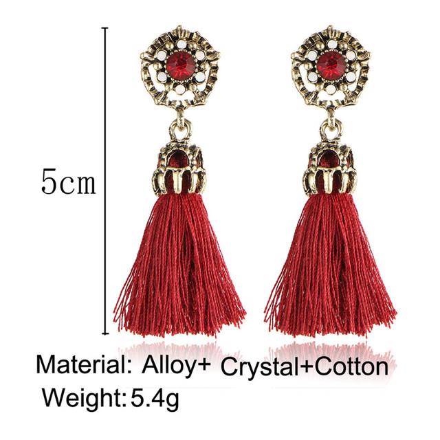 Bohemian Rose Tassel Earrings