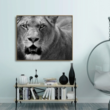 Canvas Painting Calligraphy Lion Natural Realist Animals Canvas Prints Home Decoration Wall Art Pictures For Living Room Bedroom л е бежин се линъюнь