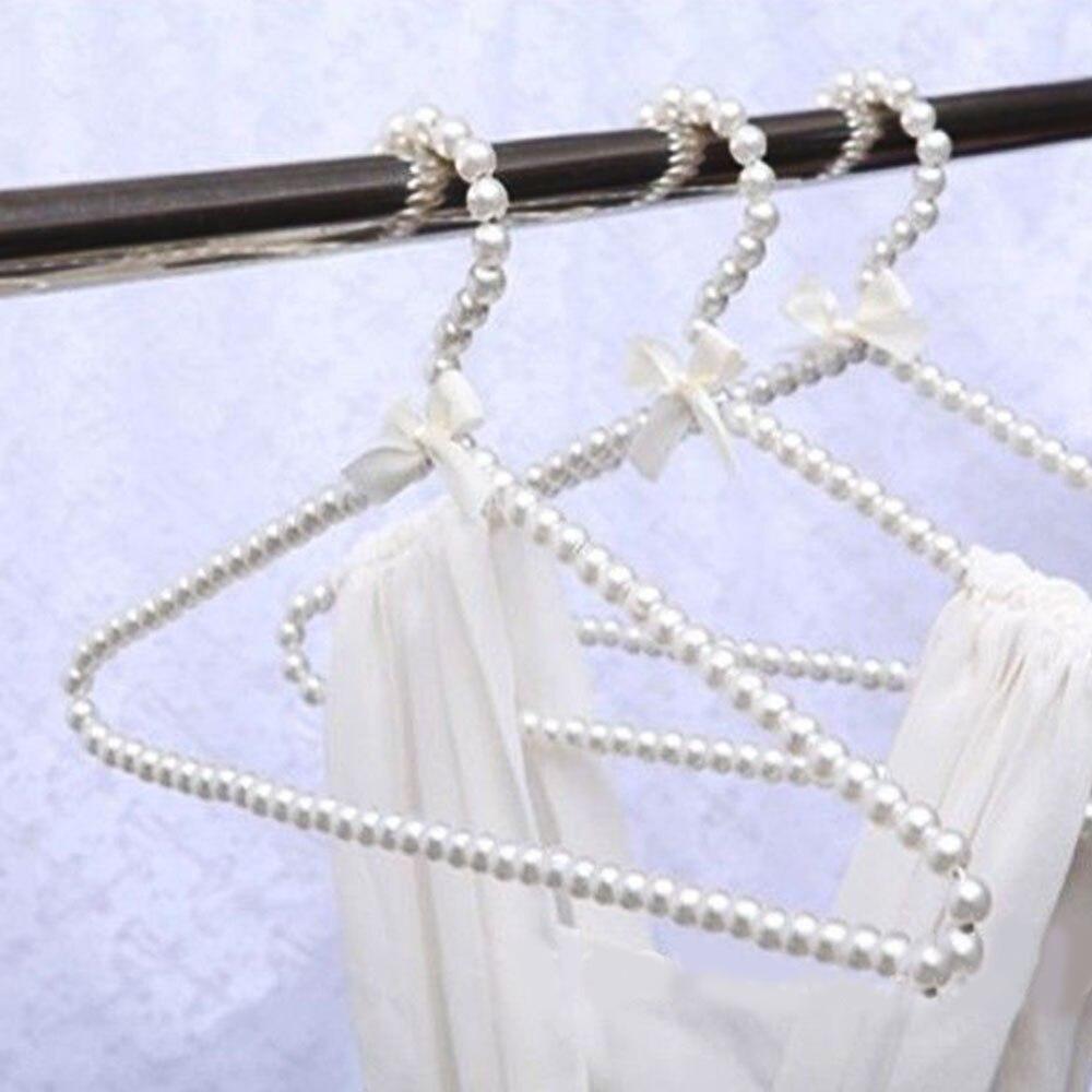 Вешалка для одежды пластиковая жемчужная полка для хранения одежды