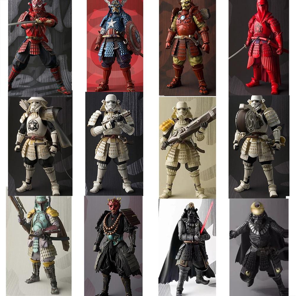 Star Wars Samurai Taisho Boba Darth Maul Vader Ashigaru Taikoyaku Akazonae Teppo Ahigaru Yumiashigaru Koutetsu Figure Toy