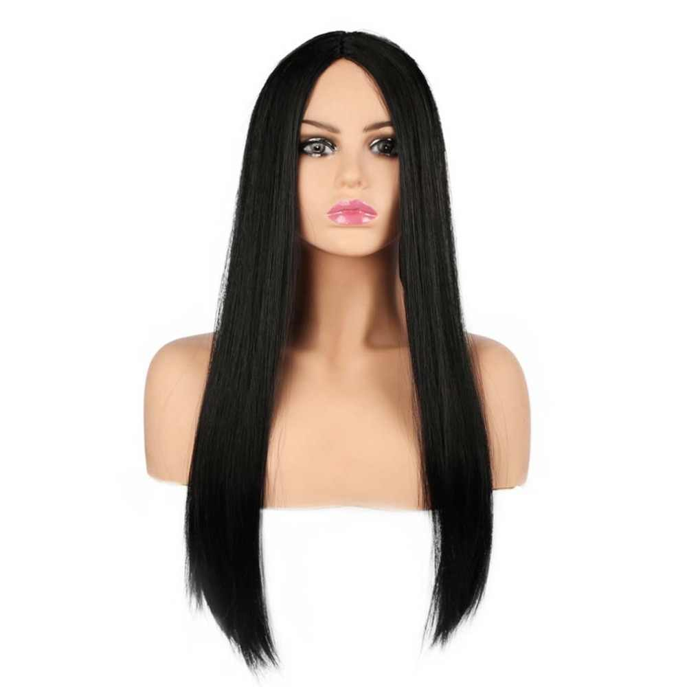 Бесплатная красота 26 ''длинные прямые синтетические волосы черный фиолетовый красный т часть ведьма косплей парик для девочек Женский костюм для вечеринки Хэллоуин