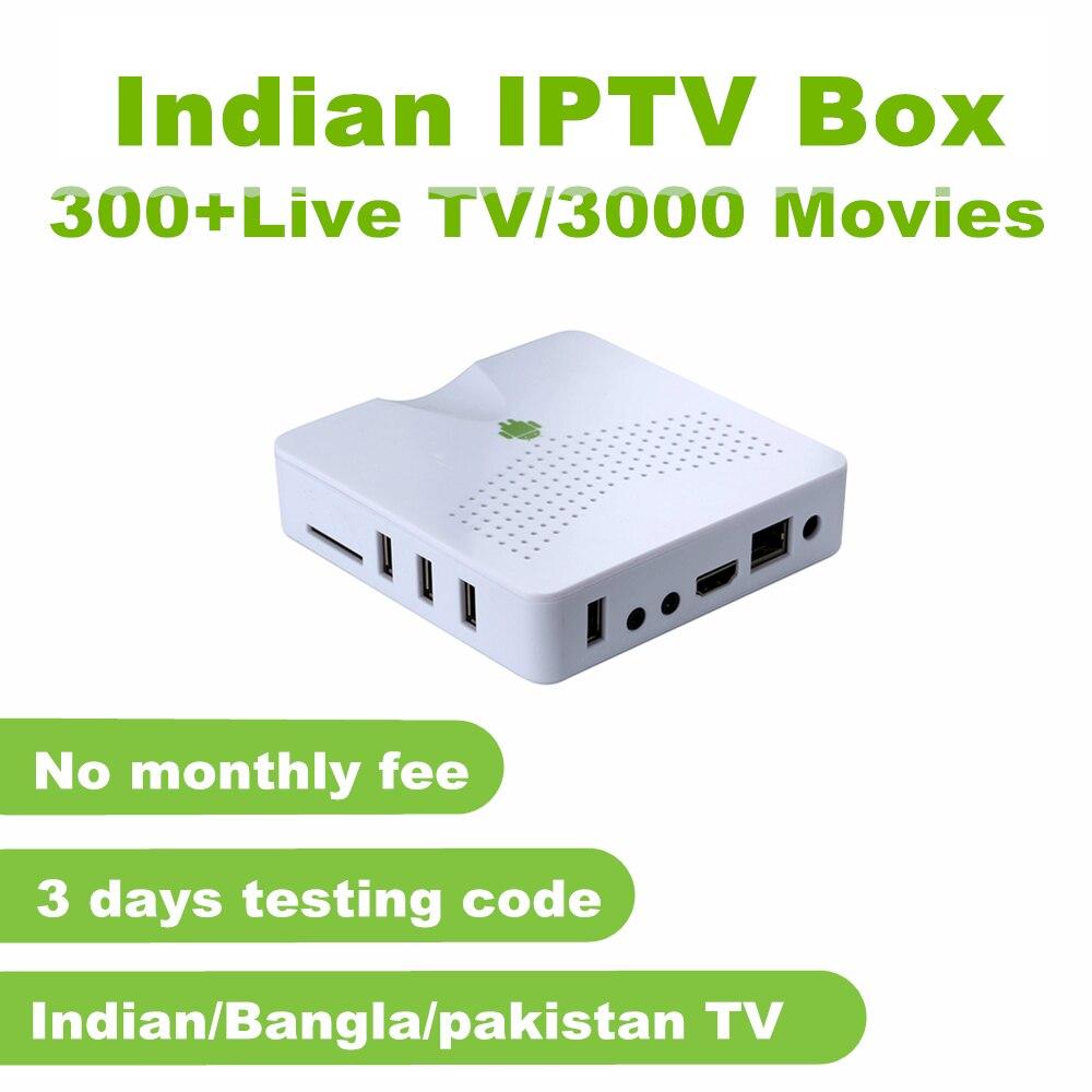 Boîtier indien IPTV 300 + Star Plus, TV Zee, couleurs, Soni, Sun TV, TV Maa, chaînes Zee Marathi sans frais mensuels
