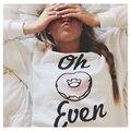 Novo Design Rosquinhas Camisolas Impressos Para As Mulheres Menina Estudantes Harajuku 2015 Hoodies Pullovers Sudaderas Mujer WMH50