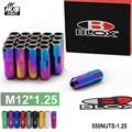 Hubsports - Blox Forged 7075 Aluminum Racing Lug Nuts P 1.25, L :60mm (20 Pcs/Set) 550NUTS-1.25