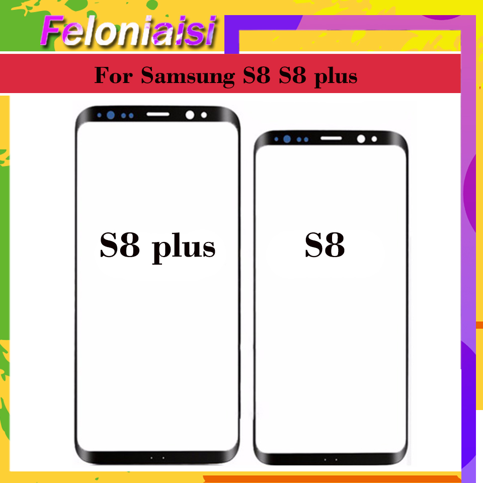 10Pcs lot For Samsung Galaxy S8 G950 G950F SM G950F S8 Plus G955F SM G955F Touch Screen Front Glass Panel Outer Glass Lens in Mobile Phone Touch Panel from Cellphones Telecommunications