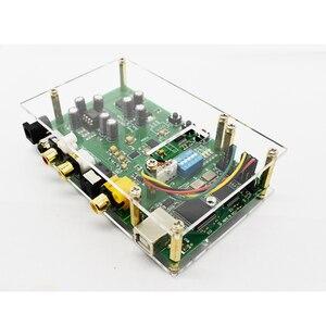 Image 3 - Lusya ES9038Q2M DSD I2S spdif dekoder kurulu amanero USB DAC ses amplifikatörü akrilik levha ile T0249