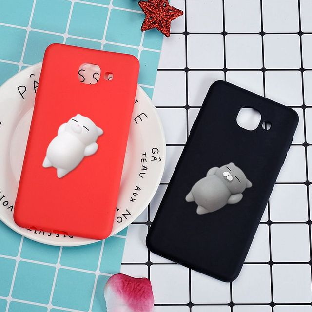 premium selection be46e 5d82c US $1.59 |3D Squishy Phone Case For Samsung Galaxy C5 C7 C9 Pro C10 Cute  Cartoon Soft TPU Silicone Cat Animal Back Cover Capa Coque-in Fitted Cases  ...