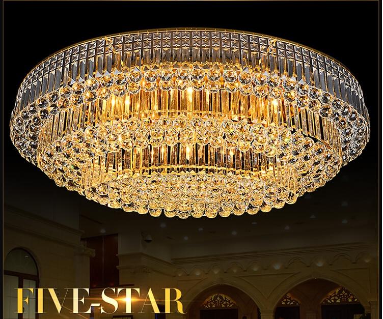 Neu Oval LED Kristall Deckenleuchte Wohnzimmer Lampe Led Decken Schlafzimmer Restaurant Flurbeleuchtung AC85 265V