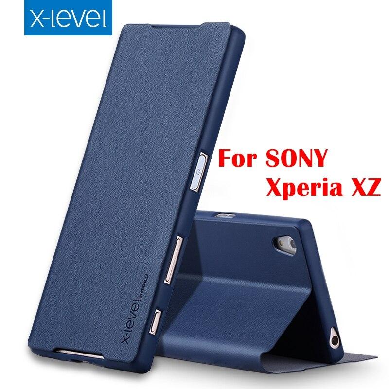 imágenes para 4 Color de Alta Calidad Del Tirón de LA PU Funda de piel Para Sony Xperia XZ XZ Marca Premium Cubierta de la Caja Del Teléfono Al Por Menor caja