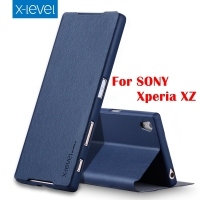 4 Color High Quality Flip PU Leather Case For Sony Xperia XZ Brand Phone Case Cover