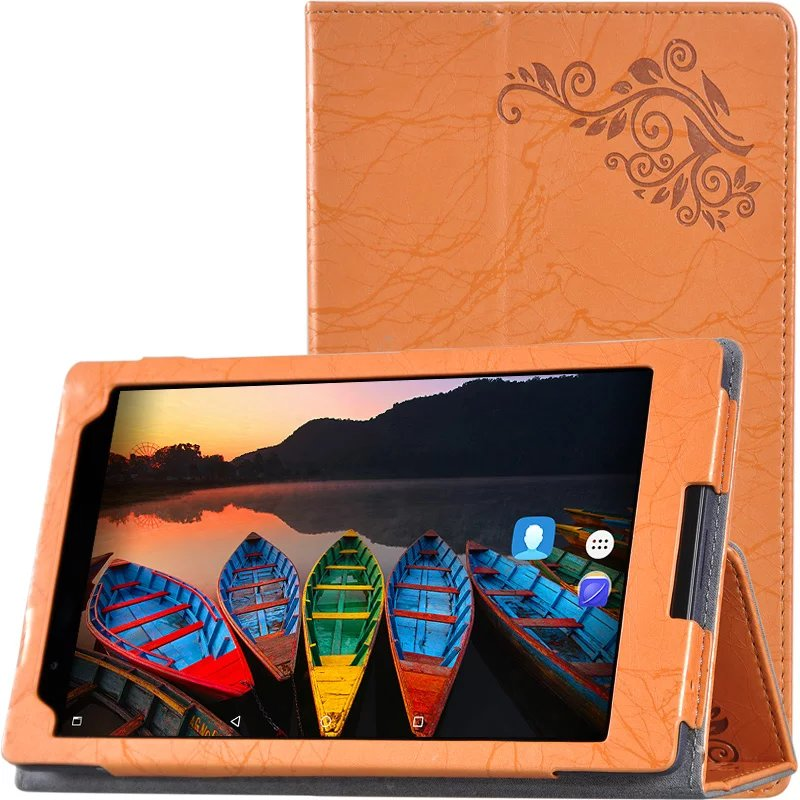 New Print Luxury Magnetic Folio Stand Fashion Prints Flower Leather Case Cover For Lenovo Tab 3 8 Plus Tab3 P8 TB-8703F TB-8703N sjcam sj4000 wifi action camera 2 0 inch sports dv lcd screen 1080p hd diving 30m waterproof sport dv