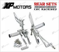 CNC Adjustable Rearset Footrest Rear Sets For Suzuki Hayabusa GSX1300R 1998 1999 2000 2001 2002 2003 2004 2005 2006 2007 Silver