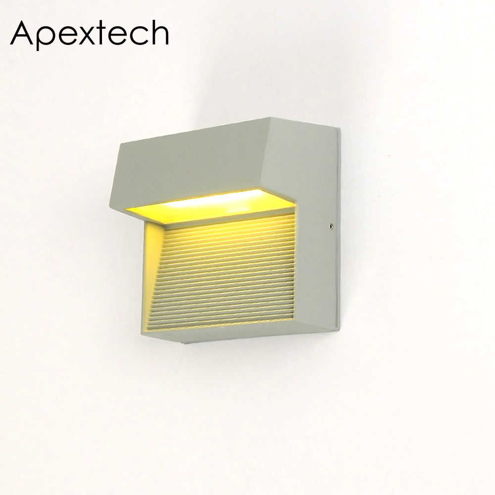 Apextech Outdoor LED Porch Light 10W Balcony Wall Lamp Waterproof ...