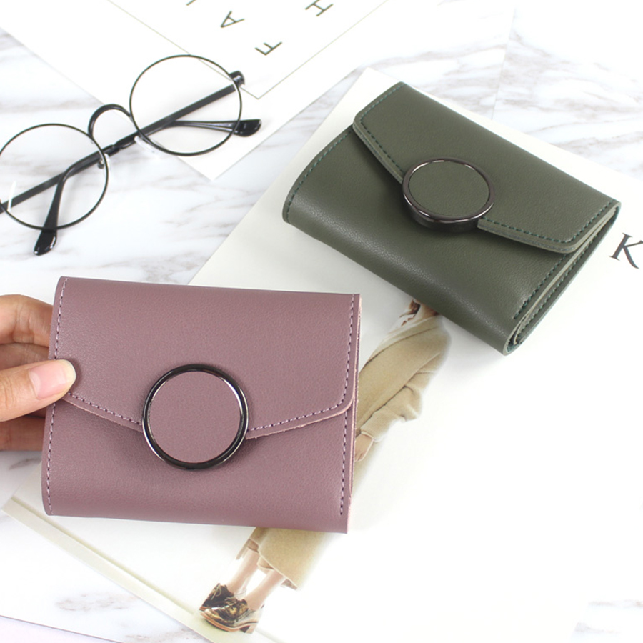 2017 Fashion Small Wallets Women Solid Mini Card Holder Wallet Female Black Credit Card Coin Purse Mini Brand 3 Fold Bolsa Woman 2017 purse owl se cute wallets for children lovely coin purses for women mini bags for girls trinket small pouch wallet card zip