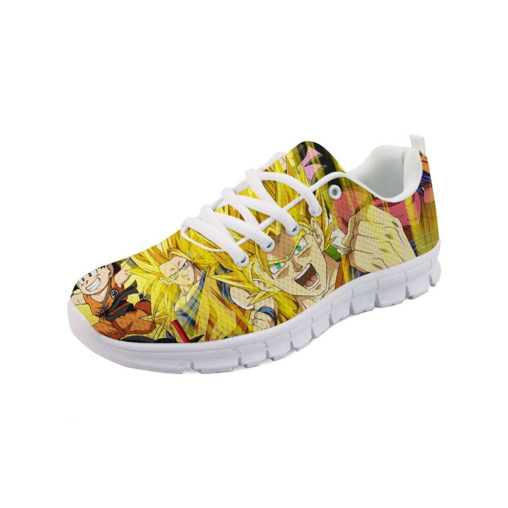 ThiKin Tenis baskets mode chaussures Super Dragon Ball Z imprime plat chaussures décontractées à lacets hommes Anime maille femmes chaussures Zapatos