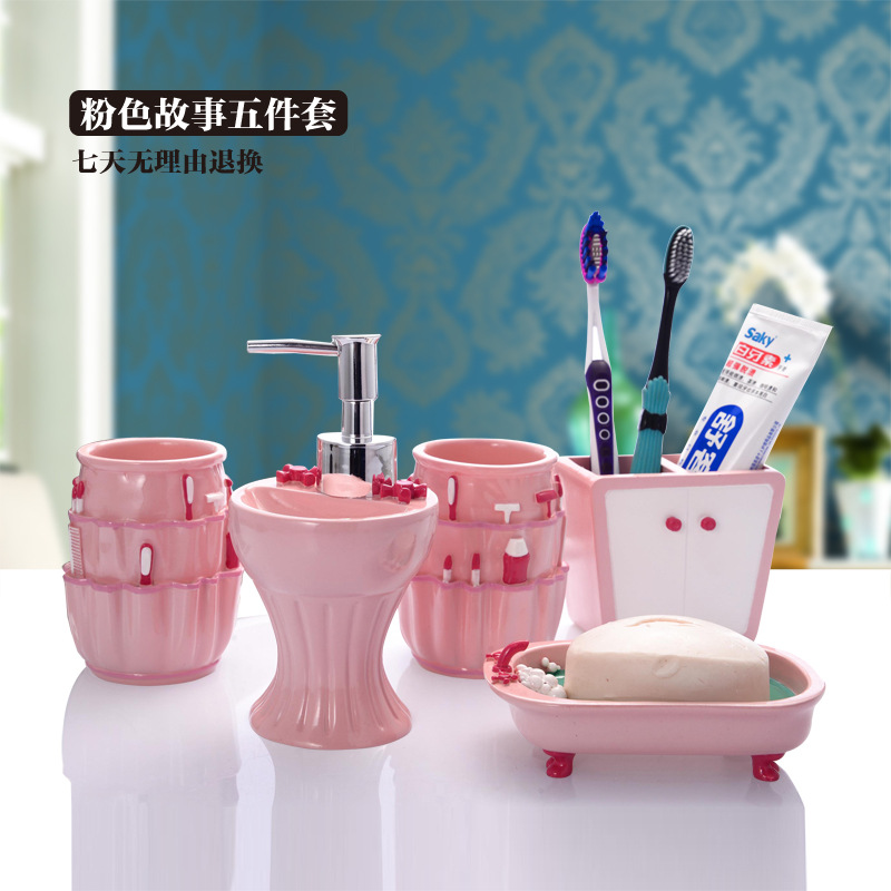 Accessoire salle de bain vieux rose 20170705080107 for Salle de bain accessoires