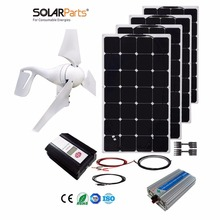 Boguang 1x 400W+400W Solar Wind Hybrid solar system DIY kit solar panel home house module mobile dc 12v/24v off grid tie turbine